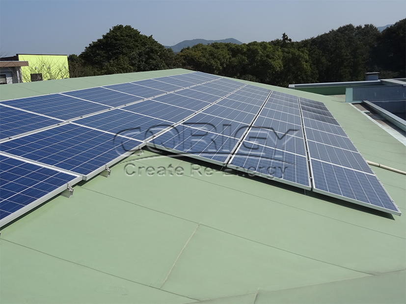 45KW solar panel roof mounting system