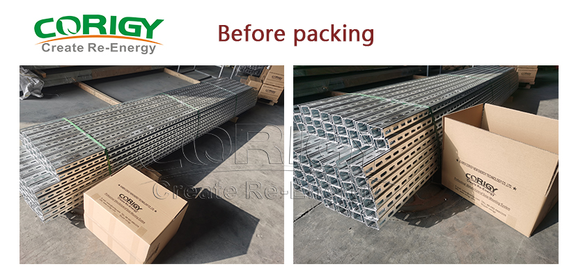 solar rails packing