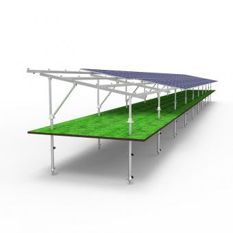 aluminum groud mount solar racking system